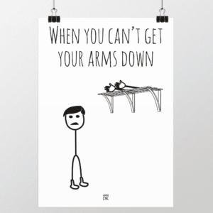 få armene ned plakat