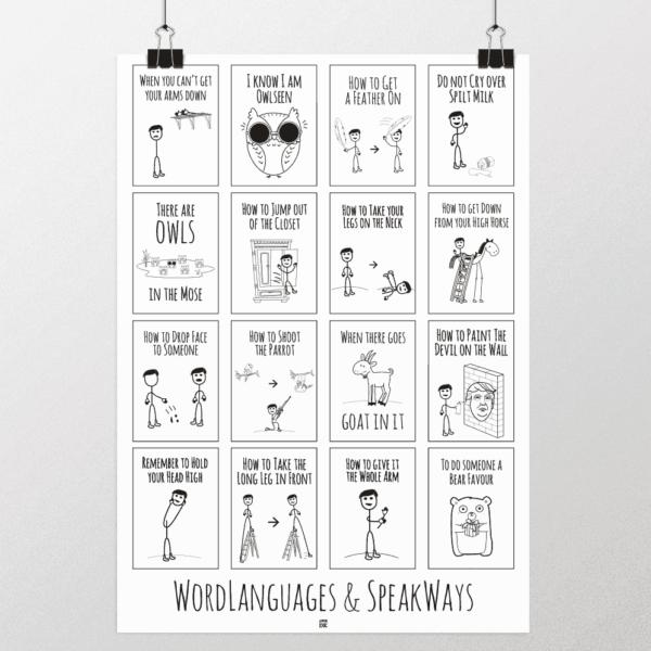ordsprog og talemåder plakat