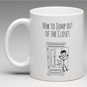 springe ud af skabet kop