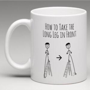 tage det lange ben foran kop